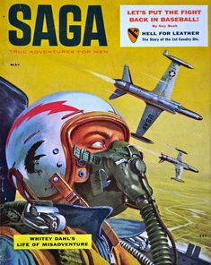 Saga - Jet Fighter dogfight - western pulp magazine covers - Google Search