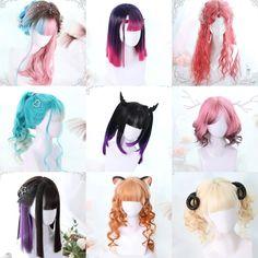 Cosplay Hair, Cosplay Wigs, Anime Cosplay, Kawaii Hairstyles, Pretty Hairstyles, Braided Hairstyles, Kawaii Wigs, Lolita Hair, Anime Wigs