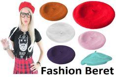 Vintage Unisex Men Women Wool Warm Beret Beanie Hat Cap French Style 15 Colors