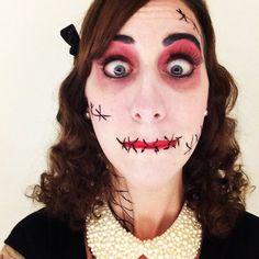 Halloween makeup! My friend Carey Heywood! READ HER BOOKS!!!