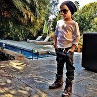 Beanie hat. Kid boy fashion style