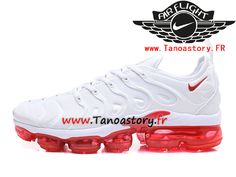 best service 4829a a1998 Chaussures Homme Nike Air VaporMax Plus 2018 AO4550-ID2 Nike Prix Pas Cher  Blanc Rouge
