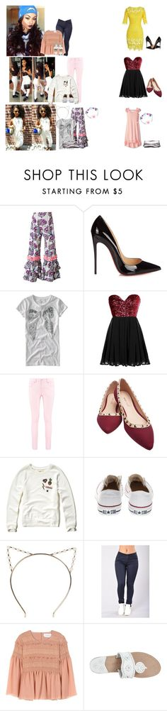 """""""Monday// Alejandra's birthday and gala event"""" by thecollinfamily ❤ liked on Polyvore featuring Christian Louboutin, Aéropostale, Jumping Jacks, Kate Mack, Boohoo, Wet Seal, Hollister Co., Converse, See by Chloé and Jack Rogers"""