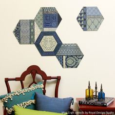 In this tutorial you will learn how to create custom wall art that you can paint and arrange as you please using Craft Stencils and Wall Art Wood Shapes.