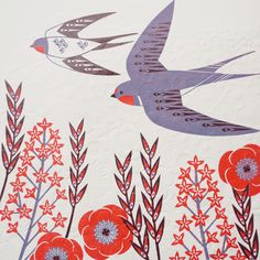 A beautifully made limited edition lino print with a hand embossed finish. A three colour reduction lino print which has been finished with a hand Art And Illustration, Ash Leaf, Cross Stitch Bird, Linocut Prints, Bird Art, Prints For Sale, Art Paintings, Printmaking, Art Drawings