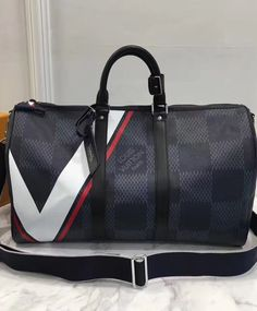 #Louis #Vuitton #Keepall Bandouliere 45 N44008 Black For Men. 2017 Travel LV Handbag.