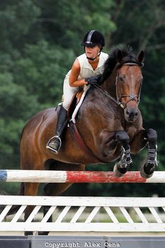 Alli jumping a rail with her horse Mazie.  I took this photo at Black River Farms in Whitehouse Station, NJ.