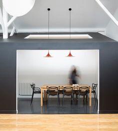 Loft in an old carpentry   Agnès et Agnès Kitchen Dining, Dining Rooms, Loft e27ca03e0a6a