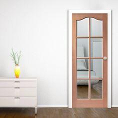 Hamlet Hardwood Mahogany Door with Bevelled Clear Safety Glass. #internalglazedmahoganydoor #internalglazeddoor #mahoganydoor
