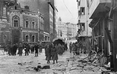 Bombing of Roobertinkatu (Robert Street) by Soviets on 8 November 1942 Helsinki