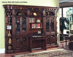 Parker House Barcelona Library Wall Hutch and Desk