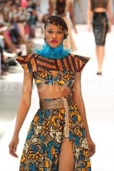 Afternoon show at Africa Fashion Week London -- Very nice use of color and shape!  http://www.vicplanet.com