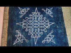Chukkala Tippudu Muggulu with dot's 11 to 1 with borders Simple Rangoli Border Designs, Rangoli Designs Flower, Rangoli Borders, Free Hand Rangoli Design, Small Rangoli Design, Rangoli Patterns, Rangoli Designs Diwali, Rangoli Designs With Dots, Rangoli Designs Images