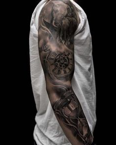 pocket watch tattoo44