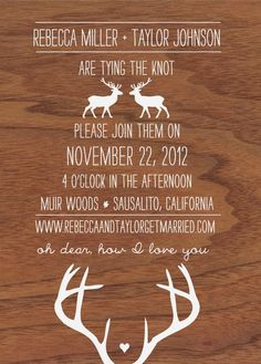 perfectly modern yet rustic invites from redribbonfox.com!