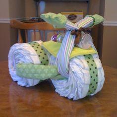 A New Take On The Diaper Cake.a Diaper Bike!