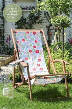 DIY Deckchair cover tutorial
