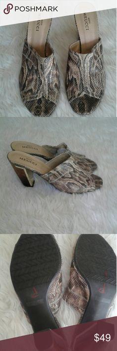 Sesto Meucci shoes Snake print Sesto Meucci high heels sandals sesto Meucci  Shoes Heels