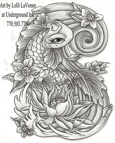 koi and dragon tattoo designs | Creative Commons Attribution-Noncommercial-Share Alike 3.0 License .