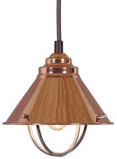 Harbour 1 Light Mini Pendant, Oil Rubbed Bronze, Copper or Brushed Steel Finish