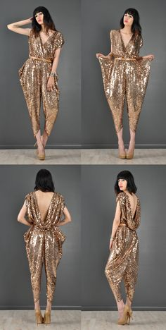1970s/early 80s vintage sequin encrusted jumpsuit