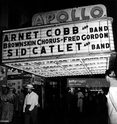 WOW!!! Apollo Theater marquee circa 1947, Harlem, New York City