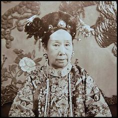 Very close shot of Empress Dowager Cixi (慈禧).  Follow imperialasia for more cultural posts!