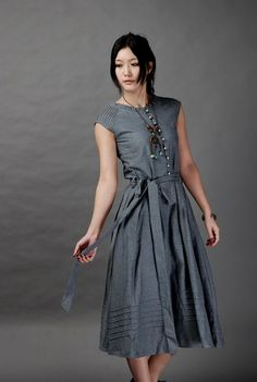 Belong With Me-Dark grey long linen sundress(more colour and size choice) -A1041. $63.00, via Etsy.