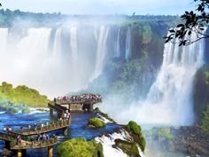 """FOZ DO IGUACU, BRAZIL Foz do Iguacu is located on the border of Brazil's Iguazu (or Iguaçu) Falls, which has more than 200 individual waterfalls and can be viewed via helicopter, on foot, or by raft. Foz do Iguassu was considered the """"Second most visited leisure destination by foreign tourists"""" after Rio de Janeiro.  The World Network (CNN USA) classifies it as one of the 14 most romantic destinations."""