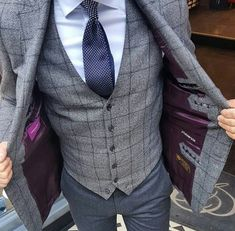 Great check colours with the grey and purple. Shame the trousers aren't darker