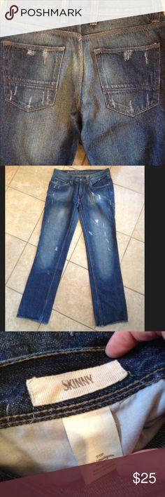 NWOT Arizona Men's Skinny Jeans 31x30 NWOT Men's distressed Jeans dark wash never worn 31 x 30. Skinny Jeans. Arizona Jean Company Jeans Skinny