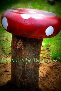 More gnome-related crafts and decor - stools, a different kind of twig gnome, etc.