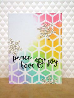 This is another card I had published in the latest Australian Cardmaking, Stamping and Papercraft magazine - this one was for the Colourful ...