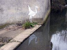 Banksy Origami Kranich