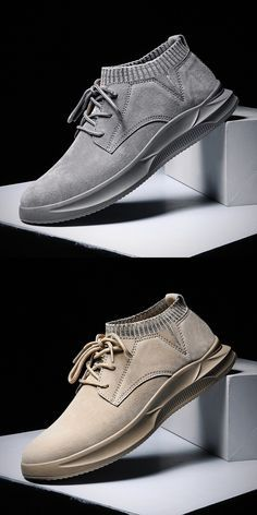 Prelesty Cool Suede Leather High Quality Fashion Hip Hop Sock Sneaker Shoes US-Dollar Prelesty Cool Wildleder Leder Hochwertige Mode Hip Hop Socke Sneaker Schuhe Mens Fashion Shoes, Men S Shoes, Leather Fashion, Sneakers Fashion, High Fashion, Golf Shoes, Fashion Art, Suede Leather, Leather Shoes