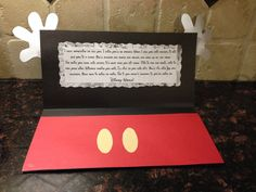 "Inside card It reads: ""I have something to tell you. I think you'll be amazed… Disney 2015, Disney Tips, Disney Fun, Disney Magic, Walt Disney, Disney Crafts, Disney World Vacation, Disney Vacations, Disney Cruise"