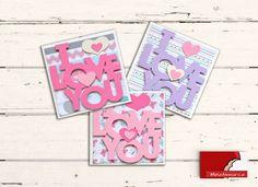 """""""I Love You"""" Con questo biglietto di auguri, ideale per diverse occasioni, doni un tocco unico ad ogni regalo.  Ogni biglietto, realizzato interamente a mano, è unico nel suo genere. La confezione è composta da: 3 biglietto d'auguri """"I LOVE YOU"""", adatto per i tuoi momenti speciali: 11 x 11 cm (4,3"""" x 4,3"""") + busta bianca 11,5 x 11,5 cm (4,5"""" x 4,5"""")"""