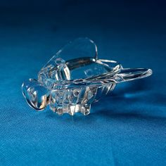 rare Vintage Art Deco style French Art Vannes Cristal Glass Fly Figurine Pipe or Cigar Holder