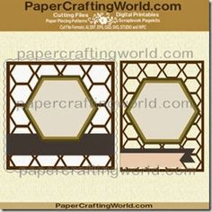 Hexagon-Honeycomb Card overlays-mats from PaperCraftingWorld.com. http://www.papercraftingworld.com/item_1622/Hexagon-Mats-CF-Set.htm