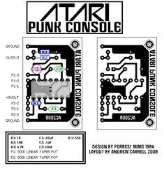 ATARI PUNK CONSOLE 556 PCB LAYOUT