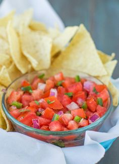 Pin for Later: Easy Salsa Recipes That Will Have You Hitting the Store For More and More Tortillas Fresh Tomato Salsa Get the recipe: fresh tomato salsa