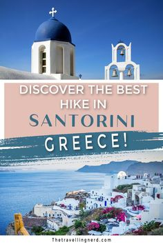 Discover the best hike in Santorini! Hiking from Fira to Oia in Santorini, Greece is one of the best hikes you could imagine with unforgettable views. Learn where to start, the path, what to bring, stops along the way, when to go, and the fitness level required here. #hiking #santorini #oia #fira #greece #travelguides #travelgreece Road Trip Europe, Europe Travel Guide, Travel Guides, Fira Greece, Santorini Greece, Santorini Travel, Greece Travel, European Destination, European Travel