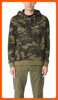 175a795e6f5c OBEY Men s Ennet Anorak Pullover Hood Fleece Sweatshirt
