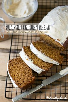 This Pumpkin Einkorn bread is soft, moist, and spiced with The Real Pantry's perfect Pumpkin Pie Spice. It's also freezer-friendly!