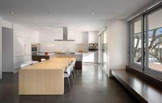 Keukeneiland met aansluitende tafel keuken inspiratie