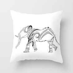 WildElephant Throw Pillow by M. KELLY | Society6
