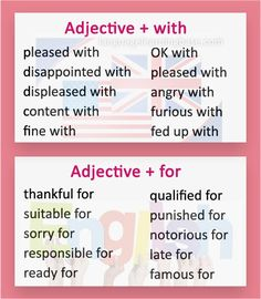 There are many cases in which adjectives are combined with prepositions - but there is no . combinations of adjectives and prepositions in English: English Vocabulary List, English Adjectives, Teaching English Grammar, Grammar And Vocabulary, English Idioms, Grammar Lessons, English Lessons, Advanced Vocabulary, English Fun