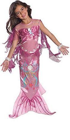 Image 0 of Precious Pink Mermaid Ariel Disney Princess Dress-up Girl  Costume 1003d4277d5