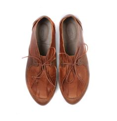 WINTER SALE flat Moccasins shoes brown leather shoes by MYKAshop, $149.00