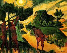Verano en Nidden de Max Pechstein